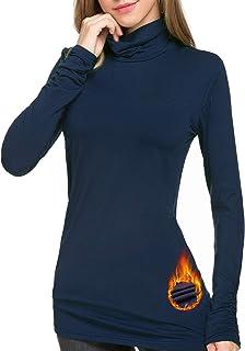 ملابس داخلية حرارية من Le Vonfort برقبة مستديرة للنساء بلوفر للتمرينات الرياضية خفيفة الوزن طبقة أساسية