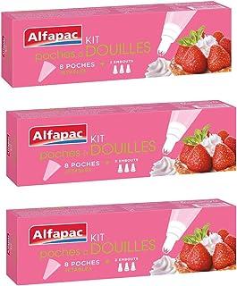 ALFAPAC - Kit Poches à douilles - 8 Poches - Lot de 3