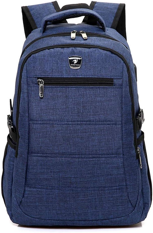 Smart Backpack USB Charging Bag Student Letter Backpack Travel Bag,blueee