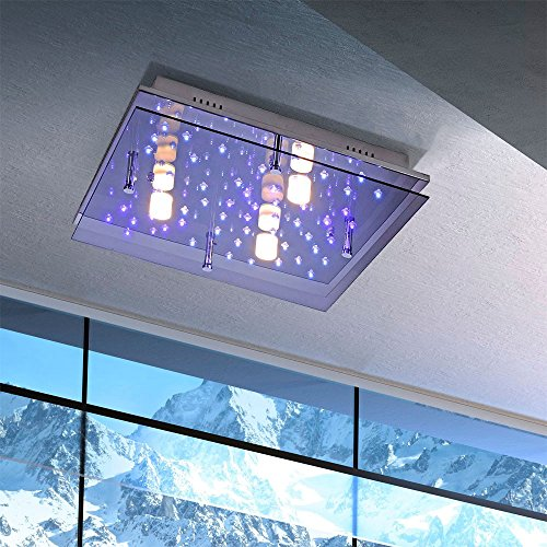 LICHT-TREND / LED Deckenleuchte / LED Sternenhimmel / 45x45 cm