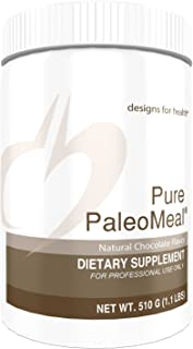 Designs for Health Pure PaleoMeal Powder - Chocolate Bone Broth Protein Powder, 17 Grams Protein with Active Folate + Chelated Minerals (15 Servings, 510 Grams)