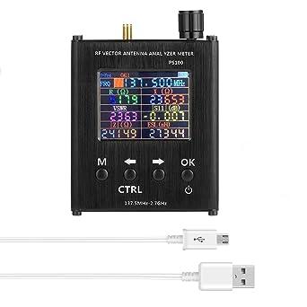Medidor de metros SWR para análisis de antena, versión mejorada de 137,5 MHz - 2,7 GHz UV-HF de alta precisión de medición de metros de distancia para ...