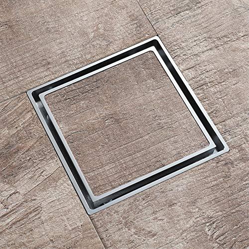 PIJN Bodenablauf Versteckte Chrome Kunststoff Deodorant Kern Bodenablauf-Platz (Color : Metallic, Size : 116x116x33mm)