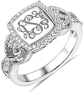 Best monogram rings silver Reviews