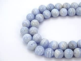 105.00 Cts Natural Blue Lace Agate /& Moonstone Round Beads Necklace NK 09E64