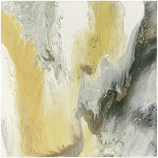 Madison Park Blissful Gel Coat Canvas with Sliver Foil Embellishment Yellow See