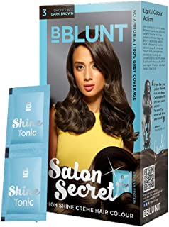 BBLUNT Salon Secret High Shine Crème Hair Colour, Dark Brown 3,40g