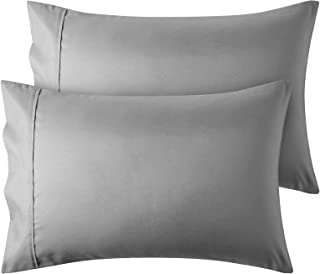 FYY Pillowcase for Hair and Skin, [2 Pack] Microfiber Pillowcases for Queen Size (Grey,20x30 inches) ,Luxury Soft & Wrinkl...