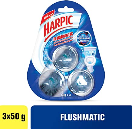 Harpic Flushmatic In-Cistern Block Toilet Cleaner - 3 x 50g