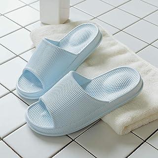B/H Idéal Plage Claquette Sandales,Sandales silencieuses Super Douces, Pantoufles de Massage déodorant à Fond épais-Bleu C...