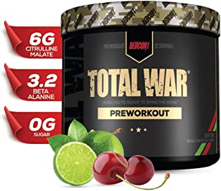 Redcon1 - Total War - Preworkout - All New (15 Servings) (Cherry Lime) Boost Energy, Long Lasting Endurance, Laser Like Fo...