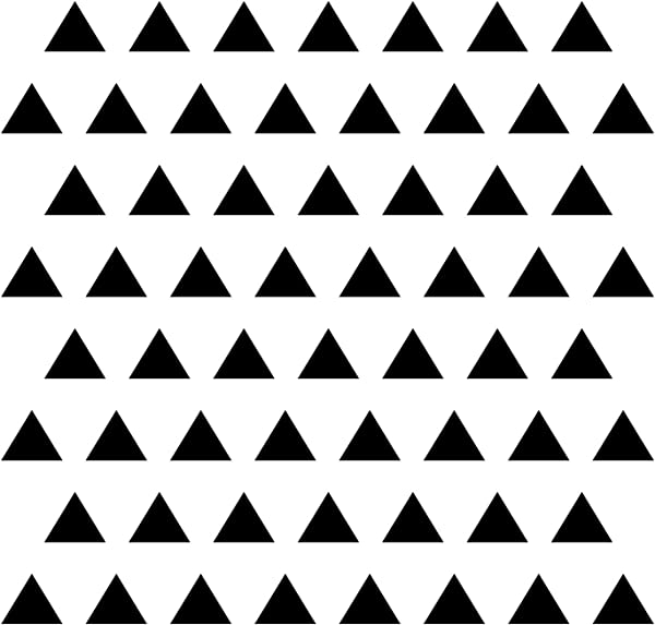 Triangle Wall Stickers Vinyl Decal Black 3 4 Set Of 84