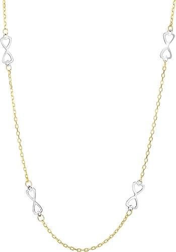 14  50,8  gelb + WeißGold 4–1  Glänzend 10 itw s Fancy Halskette