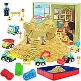 CROSOFMI Magic Sand Für Kinder Set Spielsand Kinetischer Faltbarer Sandkasten