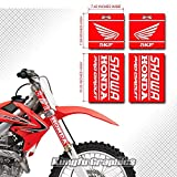 Kungfu Graphics Upper Mid Fork Tube Decal Kit (Pack of 4), Red