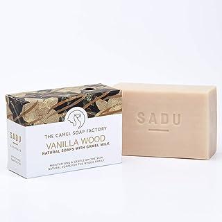 Camel Soap Factory Natural Soap – SADU Natural Collection – Vanilla Wood 140g triple-milled soap bar with fresh camel milk