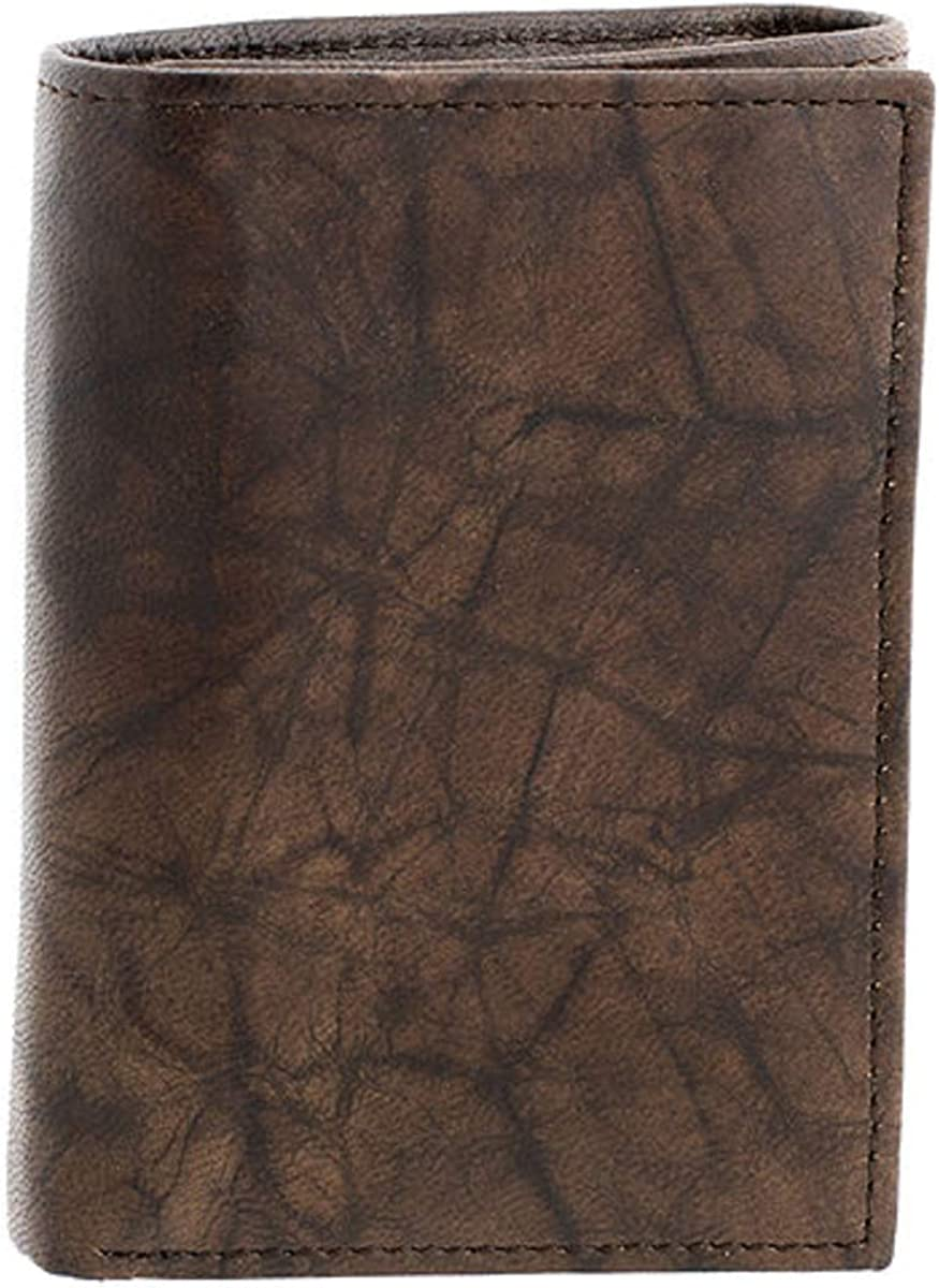 Men's Stafford Leather RFID Trifold Wallet Brown 100% Leather