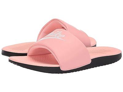 Nike Kids Kawa Slide (Little Kid/Big Kid) (Bleached Coral/White/Black) Girls Shoes
