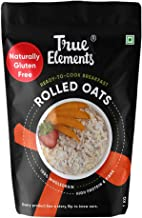 True Elements Rolled Oats 1kg - Gluten Free Oats, Cereal for Breakfast, Diet Food for Weight Loss