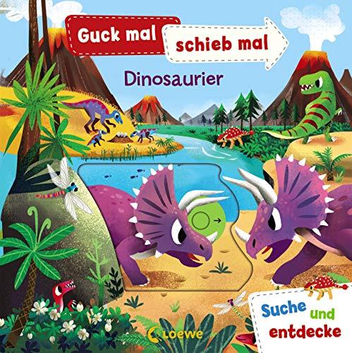 Guck mal, schieb mal! Suche und entdecke - Dinosaurier: Pappbilderbuch ab 2 Jahre