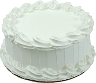 Flora-cal Products Fake White Cake Blank 9 inch