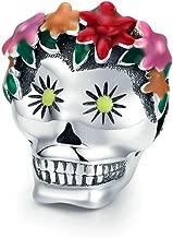 Eternalll Jewellery for Women 925 Sterling Silver Beads Halloween Pumpkin Skull Enamel Charm for Pandora Bracelets