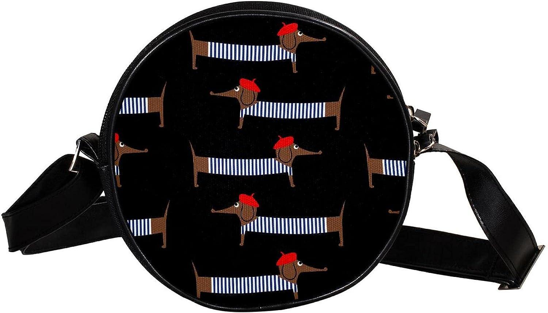 lowest price Round Cross-body Bag Black White f Spiral Leather Handbags Strap safety