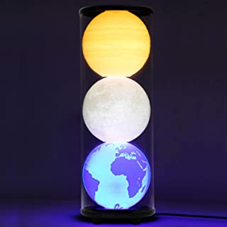 ZgmdaHOME 2019 New 3-in-1 LED Moon Lamp,Earth Lamp and Jupiter Lamp,3D Printing Moon, Earth and Jupiter Light,Perfect as Kid's Night Lamps or Decorative Lamps for Couples or Households.