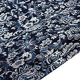 Tessuto Broccato di Raso Cinese Fiore da Ricamo per Foglio DIY Cloth Materiale 75 cm Larghezza (Blu Navy, Venduto al Metro)