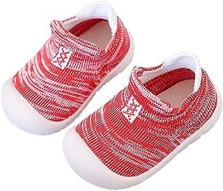 DEBAIJIA Chaussures pour Tout-Petits 1-4T Bébé Marche Enfants Bacon Formateur Semelle Souple Antidérapant Mesh PVC Matéria...