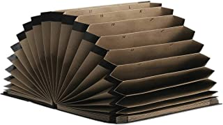 Pasta Sanfonada Papel Oficio 31 Div Kraft Classic - 01 Unidade, Dello, 0700P.0005, Kraft