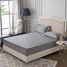 AUXCHENGFCAU 100% Cotton Waterproof Mattress Cover All-Inclusive Non-Slip Soft and Comfortable Mattress Cover (Color : Gre...