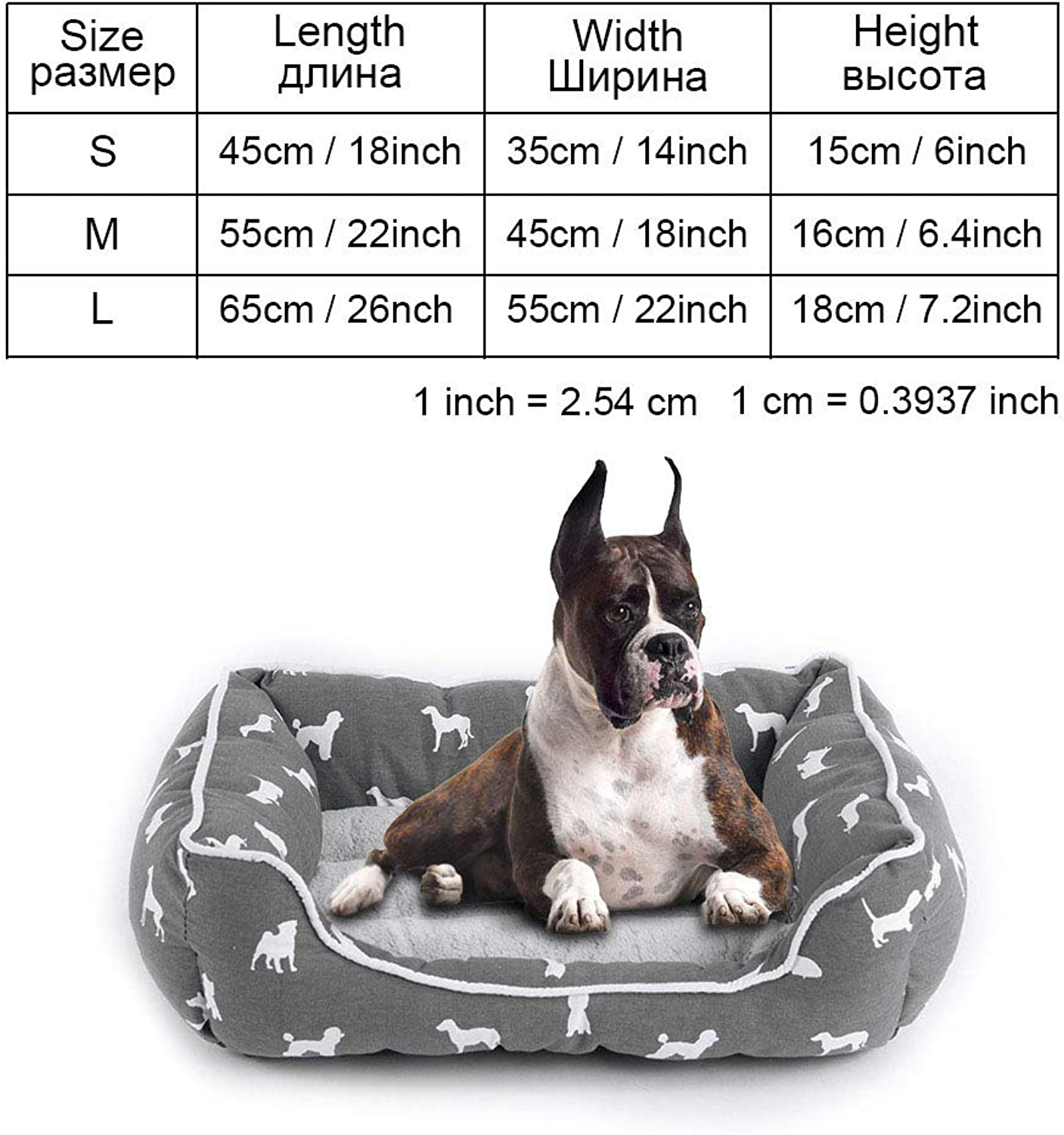 Cookisn Dog Bed Bench Dog Beds Mats for Small Medium Large Dogs Puppy Bed Cat Pet Kennel Lounger Dog Bed Sofa House for Cat Pet Products greypy0104 L