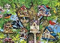 1000個の木製大人のパズル、減圧レジャーと環境保護のパズル、最高のホリデーギフト-バードハウス(50x75cm)