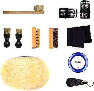 靴磨きセット 道具がすべて 揃った シューズケアキット 初心者向けからプレゼント向けまで 簡単靴磨き 革靴手入れ クリーム仕上げ