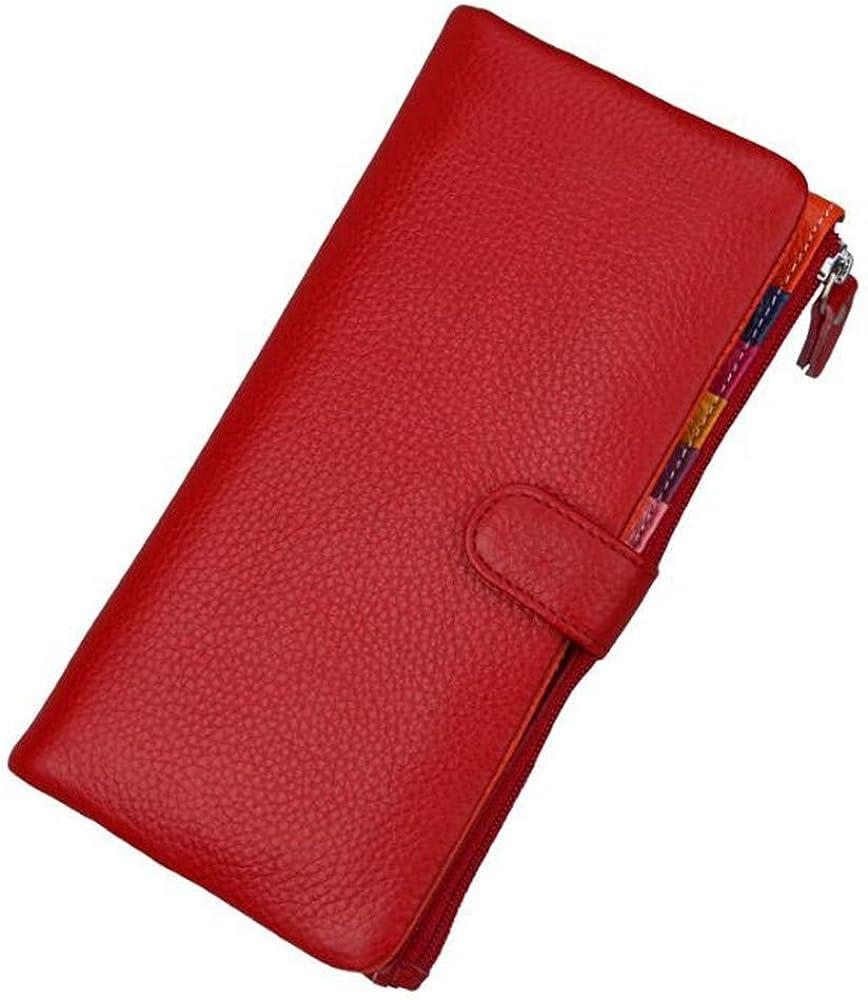 Aprinctempsd portafoglio, porta carte di credito, in vera pelle per donna