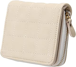 Lorna Women's Mini Short Pu Leather Nubuck Card Holder Zipper Wallet With Coin Purse