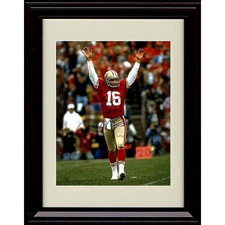Framed Joe Montana Sports Illustrated Autograph Replica Print 2589 8x10 Print