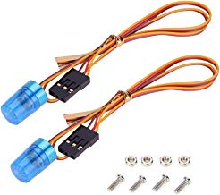 Boliduo RC Car Blue Light Flash Warning Light Emergency LED Strobe Police Lights with Strobing Flashing Rotating Mode for 1/8 1/10 RC Model Car Truck Lighting, 2 Pack