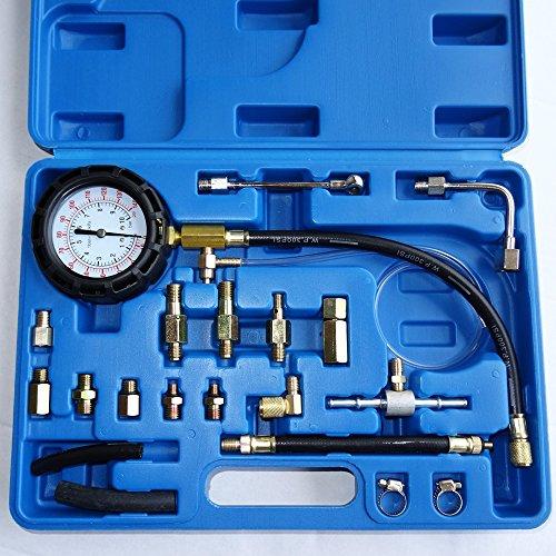 Benzindruck-Tester Set Einspritzanlage Benzindruck-Prüfer Set Druckprüfer Auto PKW Krafststoffdruckmesser