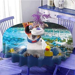 Nappe ronde amusante Jack Russell Chien avec lunettes de soleil assis sur le lac plage chiot à la plage Tableau à séchage ...