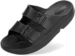 Housking Unisex Arch Support Comfort Slides Double Buckle Adjustable EVA Flat Sandals