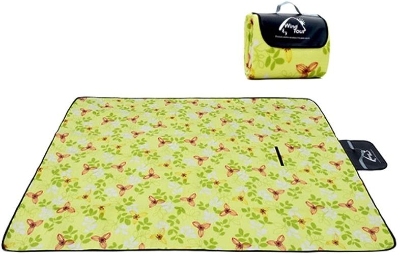 Couverture de pique-nique Tapis de plage extérieur pliable Tapis de pique-nique Support imperméable Camping avec poignée Tapis de tapis de pique-nique KKY-ENTER (Taille   200  200cm)