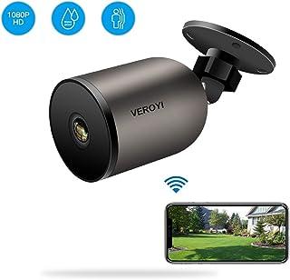 Veroyi Cámara de Seguridad para Exteriores 1080P WiFi IP Cámara de vigilancia doméstica con Audio bidireccional IP66 a Prueba de Agua visión Nocturna detección de Movimiento
