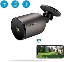 Veroyi Cámara de Seguridad para Exteriores 1080P WiFi IP Cámara de vigilancia doméstica con Audio bidireccional, IP66 a Prueba de Agua, visión Nocturna, detección de Movimiento