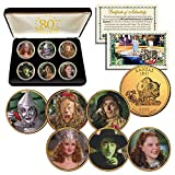 WIZARD OF OZ Kansas Quarters 24K Gold Clad 6-Coin Set with 80th ANNIVERSARY BOX