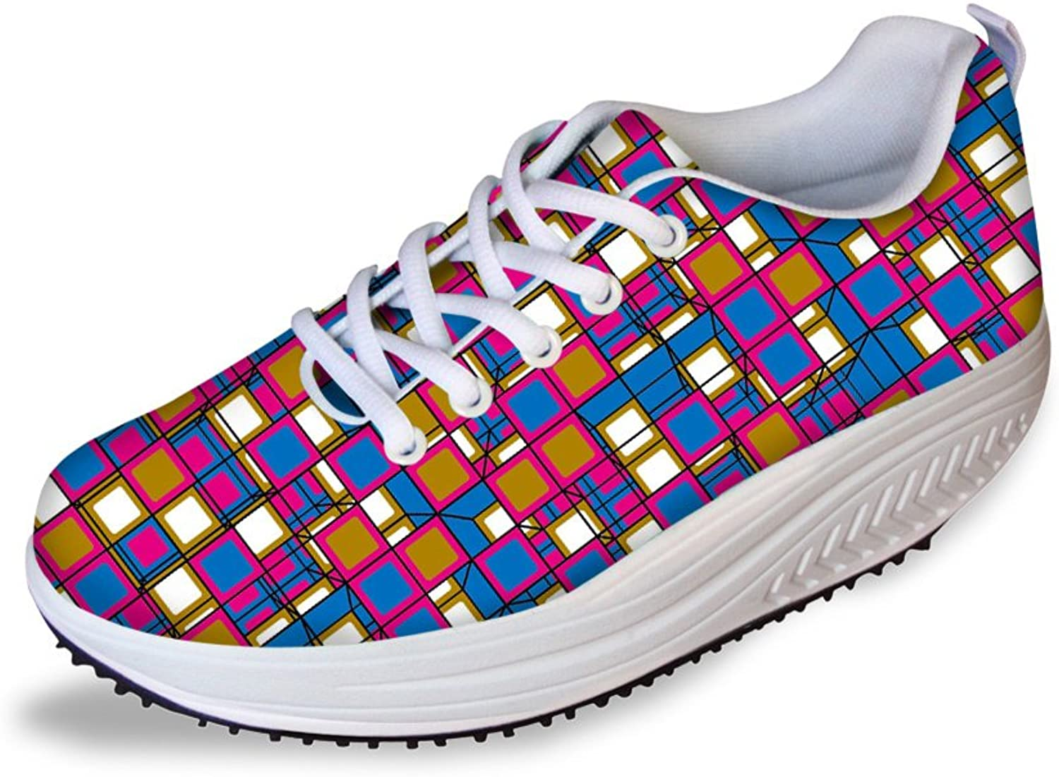 Classic colorful Air Mesh Platform Toning shoes Fitness Work Out Sneakers for Women