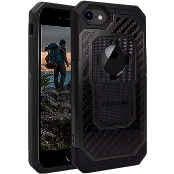 Rokform – iPhone SE (2nd generation)/8/7/6 Magnetic Case with Twist Lock, Aluminum & Carbon Fiber Magnetic iPhone Case Fuzion Pro Series (Black)