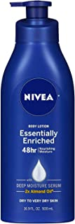 NIVEA Essentially Enriched Body Lotion 16.9 oz (Pack of 5) - Packaging May Vary