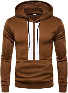 Men Business Color Block Patchwork Hoodie Casual Loose Pullover Sweatshirts Top